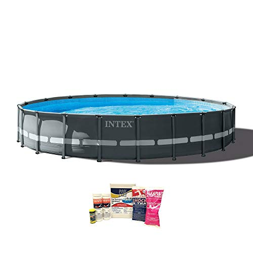 Intex 20ft x 48in Ultra XTR Frame Pool w/Pump, Ladder, Chemical Cleaning Kit (Intex Ultra Frame)