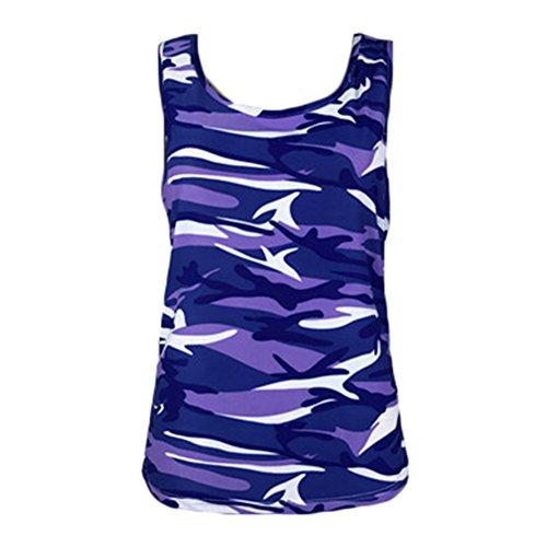 Yying Sans Gris Femmes Dcontracte Bleu Taille Bleu Violet Gilets Blouses Quotidien Tops Col Rond XXS Sport Vert Rose 3XL Camouflage Tshirts Grand Manches Vin ptFnwdnBx