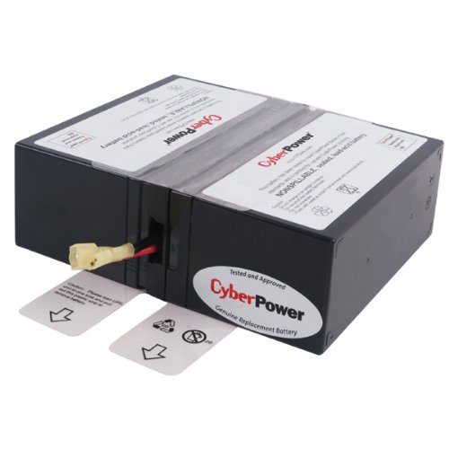 CyberPower RB1280X2D Replacement Battery Cartridge, Maintenance-Free, User Installable