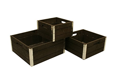 Wald Imports Graywash Wood Decorative Crates, Set of 3 by Wald Imports