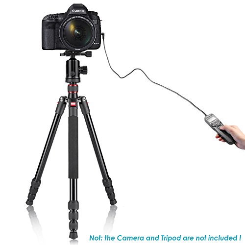 Neewer LCD Timer Shutter Release Remote Control for Canon 700D/T5i, 650D/T4i, 550D/T2i, 500D/T1i, 350D/XT, 400D/XTi, 1000D/XS, 450D/XSi, 60D, 100D, and Pentax