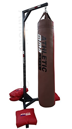 Muay Thai / Kicking Boxing Heavy Bag Stand With 4 Unfilled Sand Bags by AthleticMMAGear