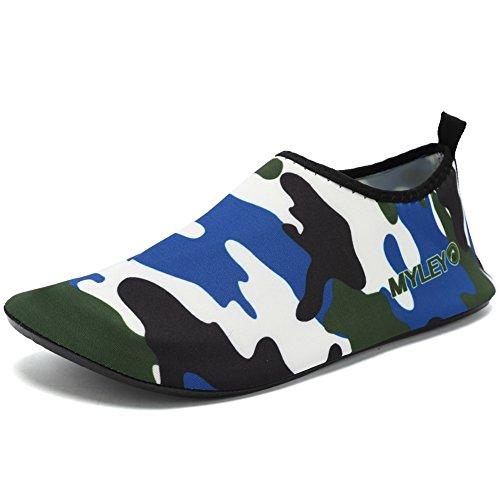 CIOR Männer und Frauen Barfuß Haut Aqua Schuhe Rutschfeste Multifunktionale Wasserschuhe Für Strand Pool Surf Yoga Übung Blau02