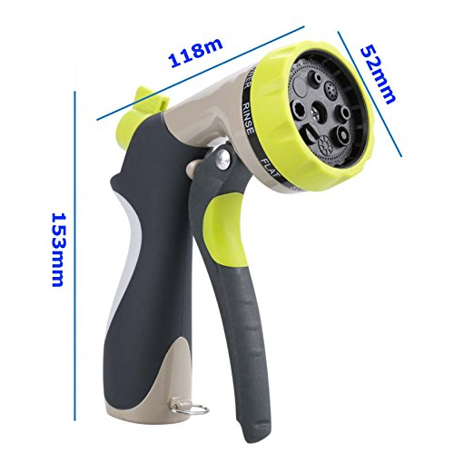 Accreate Household Zinc Alloy Water Spray Nozzle Water Gun for Watering Plants & Washing Car & Pets Showering Practical Tool