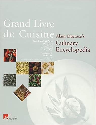 Grand Livre De Cuisine Alain Ducasse 9782848440002 Amazon