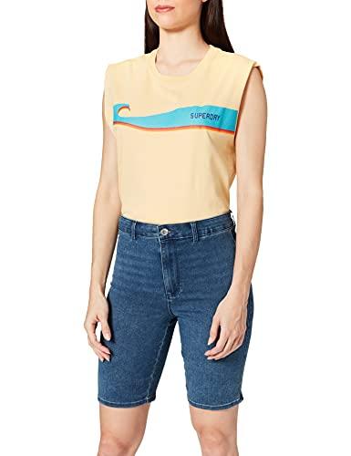 ONLY Damen ONLROYAL HW Bike DNM PIM Jeans-Shorts, Medium Blue Denim, M