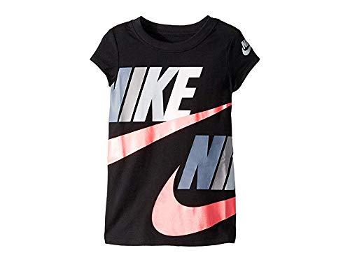Nike Kids Girl's Futura Split Core Short Sleeve T-Shirt (Little Kids) Black -