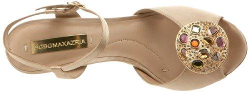 BCBGMAXAZRIA Women's Nastia Ankle-Strap Sandal Champagne tVSNO