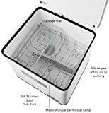 Compact Countertop Dishwasher, UV High Temperature