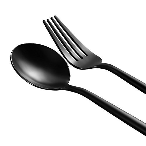 KCASA FL2 4 Pieces Food Grade 304 Stainless Steel Flatware Set Matte Dinnerware Cutlery - Sunglasses Pathfinder