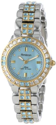 Armitron Women's 75/3689BMTT Blue Swarovski Crystal Accented Two-Tone Bracelet -