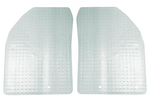 Coverking Front Custom Fit Floor Mats for Select Cadillac CTS Models - Nibbed Vinyl (Clear)