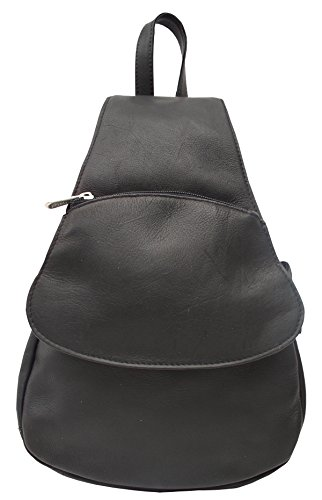 Cheap Fashion Avenue Flap-Over Sling Backpack Color: Black