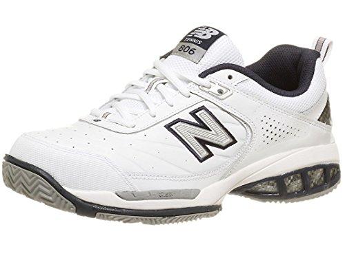 New Balance 806 Shoe Men's Tennis 9.5 White-Navy (Balance Apparel New Tennis)
