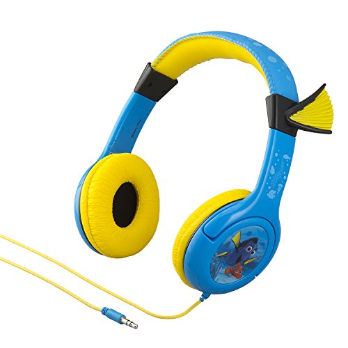 Finding Dory Disney Pixar Movie Nemo and Dory Kid Friendly Volume Reduced Youth Stereo Headphones -