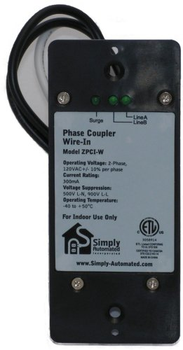 Simply Automated ZPCI-W Universal Wired In Phase Coupler (Transformer 120v Duplex)
