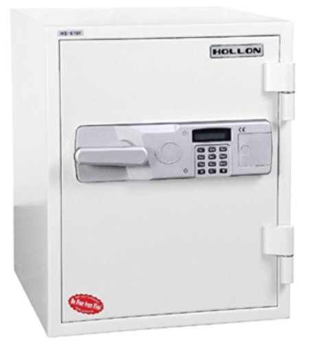 - Hollon Safe HS-610E 2 Hour Fireproof Office Safe, 1.5 cu. ft, Gray/Tan