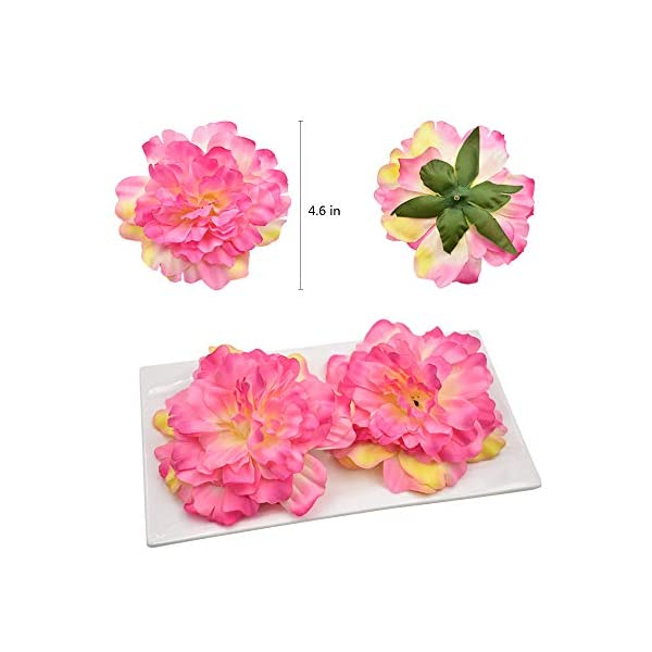 HZOnline-Artificial-Silk-Peony-Flower-Heads-Fake-Stemless-Head-Floral-Bouquet-for-Crafts-Wedding-Wrist-Flower-Decoration-DIY-Making-Beach-Shoes-Hair-Clips-Headbands-Photography-Props-10pcs-Pink
