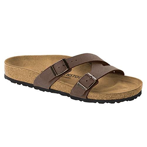 Birkenstock Women's Yao Sandal Mocha Birkibuc Size 41 N EU