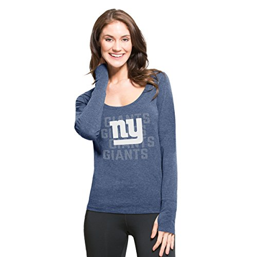 NFL New York Giants Women's '47 Forward Long Sleeve Tee, Shift Blue, Medium - New York Giants Womens Socks