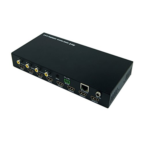 E-SDS 4K HDMI Matrix 4x4,HDMI Matrix Switch 4K 60Hz YUV4:4:4 18Gbps Support HDMI 2.0 ,HDCP 2.2 ,HDR,IR Remote Control,RS232 Control,Web GUI Control and SPDIF AUDIO Output by E-sds (Image #1)