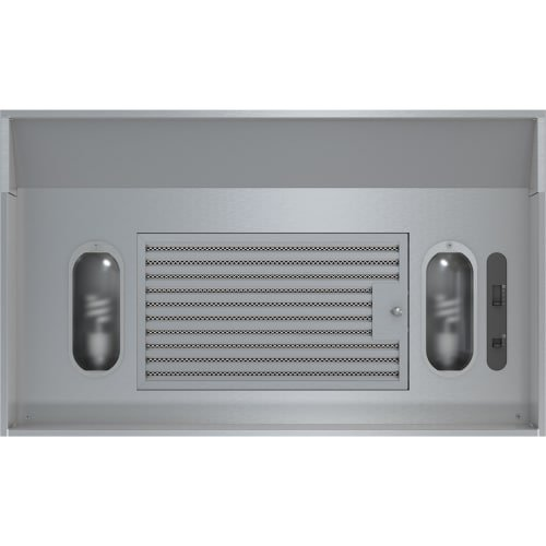 AK9028AS-ES 30'' Essentials Power Series Vortex ES Cabinet Insert Hood with 290 CFM 3 Speed Slide Controls 3.5 Sones and Energy Star Qualified in Stainless Steel by Zephyr