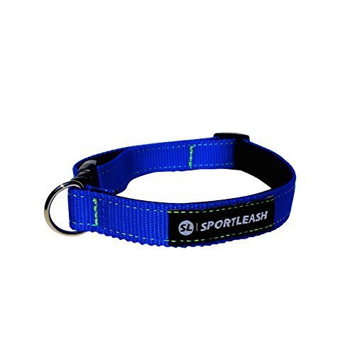 Neoprene-Lined Dog Collar (SportCollar) - Royal Blue with Neon Yellow