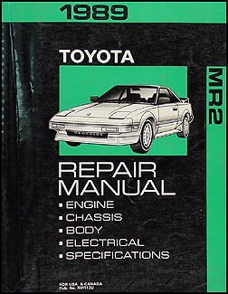 1989 toyota mr2 repair shop manual original toyota amazon com books rh amazon com 1995 Toyota MR2 1995 Toyota MR2