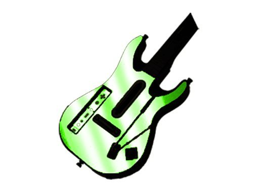 Nintendo Wii Guitar Hero Faceplates (Guitar Hero 5 (GH5) World Tour for Nintendo Wii Skin - NEW - LIME CHROME MIRROR system skins faceplate decal mod)