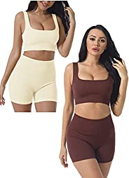 Workout Sets for Women 2 Piece, Cute YOGA Workout Set, Two Piece Workout Outfits