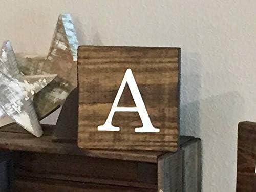 Derles Letras de Madera rústicas 14 x 14 cm – Scrabble Azulejos Nombres de Familia alfabetos decoración Granja Fixer: Amazon.es: Hogar