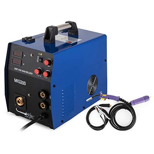 Cueffer Equipo de Soldadura MMA 220A Máquina de Soldadura Eléctrica Soldador Inverter con Electrodo MMA 220A Soldador Eléctrico (MIG / MMA200A)