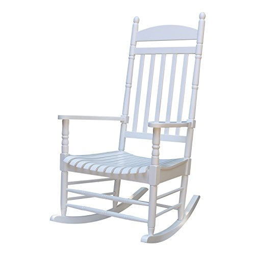International Concepts R-93015 Porch Rocker, Solid Wood White (Rocker Wood Garden)