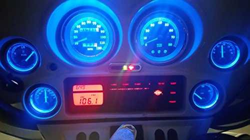 REPLACEMENT BLUE LED LIGHT BULBS FOR HARLEY DAVIDSON INSTURMENT GAUGES 1996-1999 ROAD GLIDE ULTRA CLASSIC (Harley Davidson Bulbs)