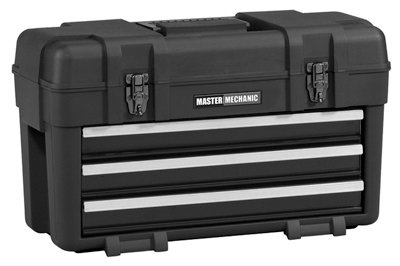 Waterloo Industries MM23BK Plastic Tool Box/Chest, 3-Drawers, Portable - Quantity 1 ()