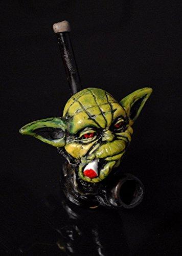 JCUNIVERSAL® – Handmade Tobacco Pipe Star Wars Yoda Head Design