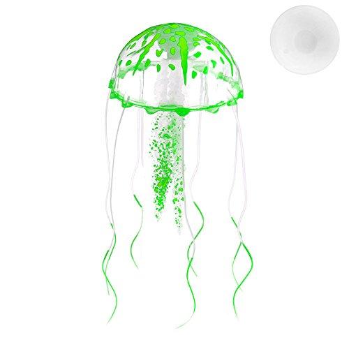 HOWWOH Artificial Jellyfish Aquarium Decoration Glowing Effect Fish Tank Ornament ()