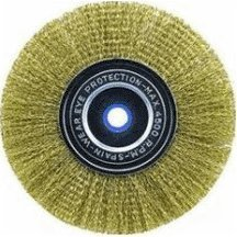 Vermont American 16795 3-Inch Course Brass Wire Wheel Brush with 1/4-Inch Hex Shank for Drill