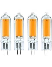 Dimbare LED G4 G9 gloeilamp 3W 6W 220V COB glazen LED-lamp Vervang de 40W 60W halogeenlamp voor de kroonluchter G4-6W-220V warmwit
