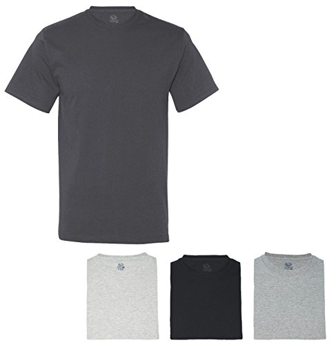 Fruit of the Loom Men's Crew T-Shirt (Pack of 4), XXX-Large, Assorted Neutral