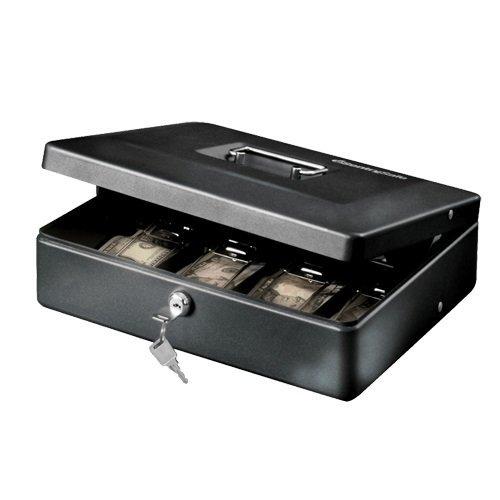 Deluxe Cash Tray - SentrySafe Cash Box, Deluxe Locking Cash Box With Money Tray, Medium, DCB-12