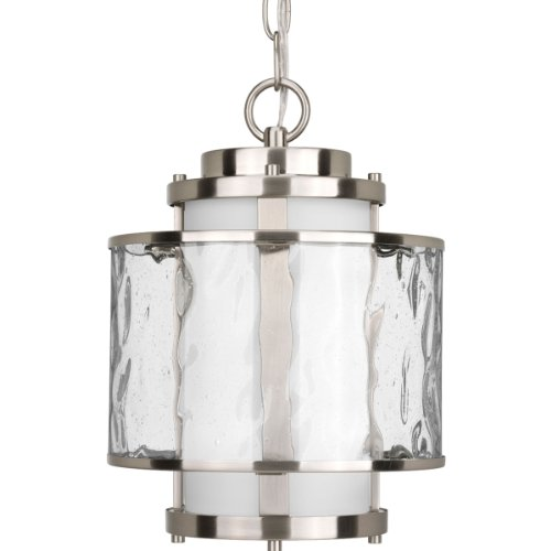 Progress Lighting P5589-09 Bay Court Collection 1-Light Hanging Lantern, Brushed Nickel