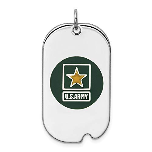 925 Sterling Silver Us Army Star Dog Tag Necklace Pendant Charm Military Fine Jewelry Gifts For Women For Her