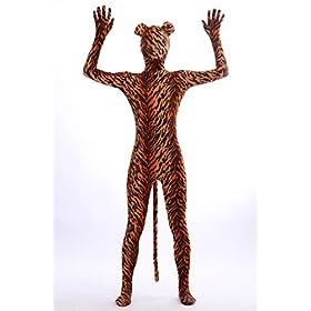 - 41CVcS8XnaL - Nedal Lycra Tiger Bodysuit Halloween Cosplay Zentai Aanimal Costume For Kids