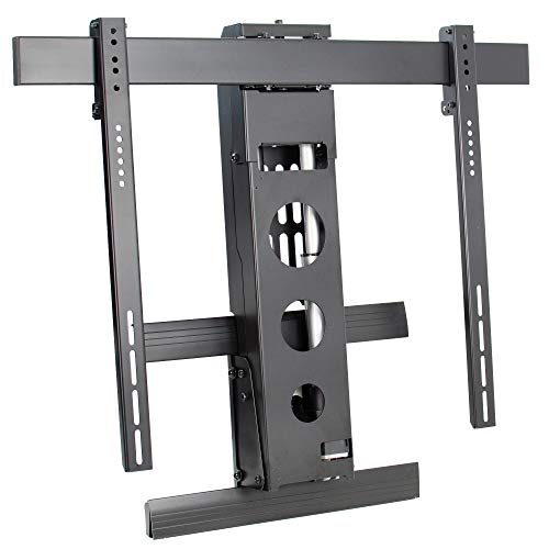Fireplace Tv Electric Lift - VIVO Steel Electric TV Wall Mount for 50