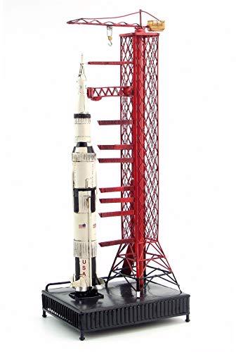 ZAMTAC NASA Appollo Saturn Five Rocket Retro Classic forging Metal Crafts Model Rocket Missile NASA