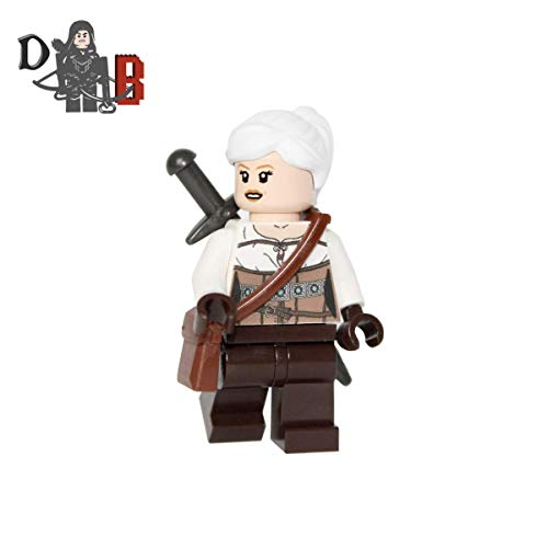 Demonhunter Bricks Custom The Witcher 3 Ciri Minifigure with Silver Sword