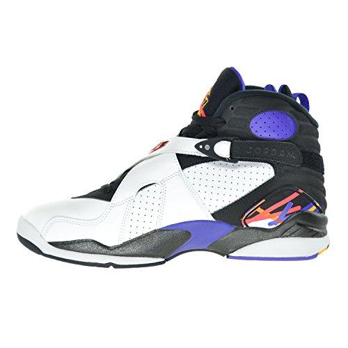 Nike Air Jordan 8 Retro, Zapatillas de Deporte para Hombre white/infrrd 23-blk-brght cncr