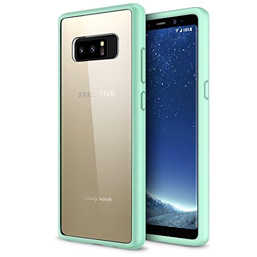 Galaxy Note 8 case, Maxboost HyperPro Series Hybrid Samsung Galaxy Note 8 Case (2017) [Drop Protection] [Mint/Orange] Heavy Duty [GXD Impact Gel] Reinforced TPU Bumper Hard PC Back Cover