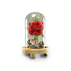 Yamart Artificial Flowers Romantic Glass Rose Wedding Decoration Home Furnishing Holiday Gifts DIY Home Garden Decor 108